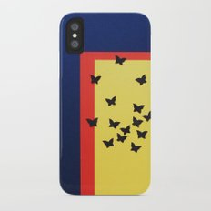 Butterfly Squares Papercut iPhone X Slim Case