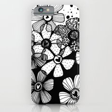 Black and White Abstract Flowers Slim Case iPhone 6s