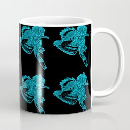 Gotcha - Teal on Black Coffee Mug
