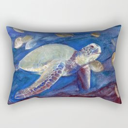 Into the Blue Rectangular Pillow