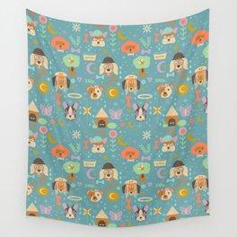 Dog World Wall Tapestry