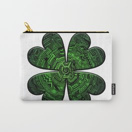 Zen Doodle Clover Shamrock Bright Green St. Patty's Day Art Carry-All Pouch