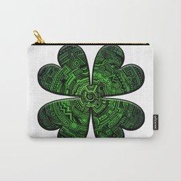 Zen Doodle Clover Shamrock Bright Green St. Patty's Day Art Carry-All Pouch