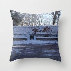 Benches Throw Pillow
