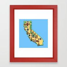 Super California Framed Art Print