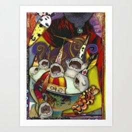 Singing Creatures Art Print