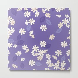 Purple Night. Cherry Blossom. Metal Print