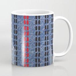 Digital Graphic Pattern Blue Denim Coffee Mug