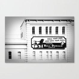Bull Durham BW Canvas Print