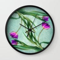 twins Wall Clocks featuring twins by lucyliu