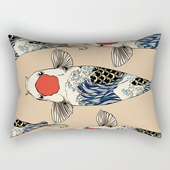 The Great Wave Of Koi Rectangular Pillow
