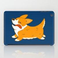 corgi iPad Cases featuring Corgi!! by mecantdraw