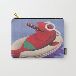 Fish Smoking a Cigar and Relaxing on Float Carry-All Pouch