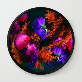 Deep Waters Colorful graphic design Wall Clock
