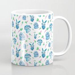 Blue Bunny Pattern Coffee Mug