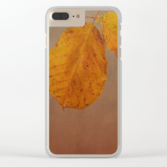 Fall leaves of an Apple tree Clear iPhone Case