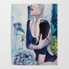 In Her Garden Poster