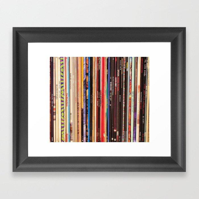 Indie Rock Vinyl Records Gerahmter Kunstdruck