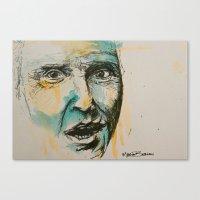 christopher walken Canvas Prints featuring Christopher Walken  by Maria Berlin