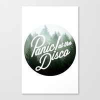panic at the disco Canvas Prints featuring Panic! at the disco round trees  by Van de nacht