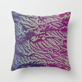 Eggplant & Fuscia Cedar Throw Pillow