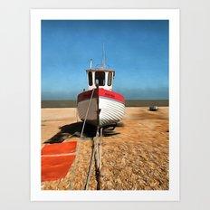 Dungeness Fishing Boat Art Print