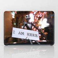 jack skellington iPad Cases featuring Jack Skellington - I AM HERE by Midge