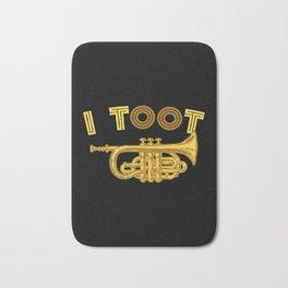 I Toot | Trumpets Music Instrument Bath Mat
