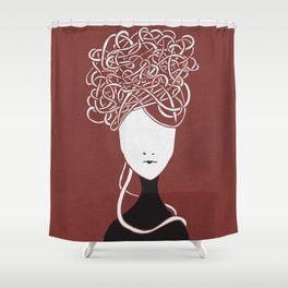 Iconia Girls - Maria Marsala Shower Curtain