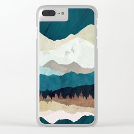 Fall Forest Night Clear iPhone Case