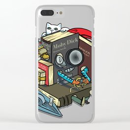 The Machine is one with your books Clear iPhone Case