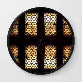 GoldenGlow Wall Clock