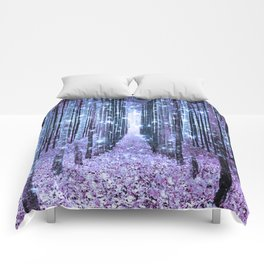 Magical Forest Lavender Ice Blue Periwinkle Comforters