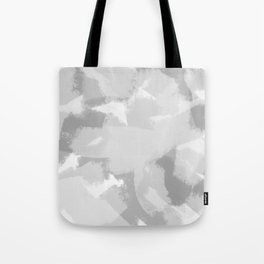 Gray and White Abstract Tote Bag