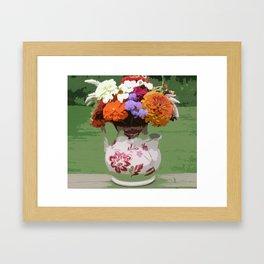 Pitcher of Flowers Framed Art Print
