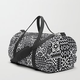 Grey Geo Patchwork Duffle Bag