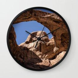 Double Arch - Horizontal Wall Clock
