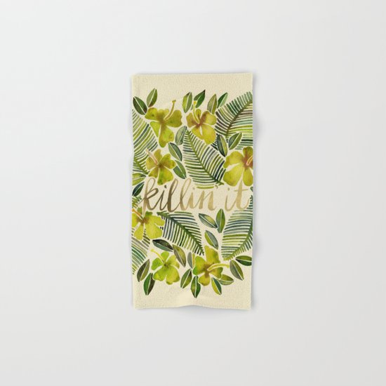 Killin' It – Tropical Yellow Hand & Bath Towel