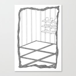 rooms are shelves Canvas Print