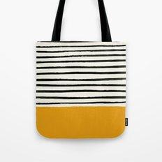 Fall Pumpkin x Stripes Tote Bag