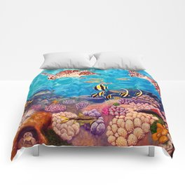 Zach's Seascape - Sea turtles Comforters