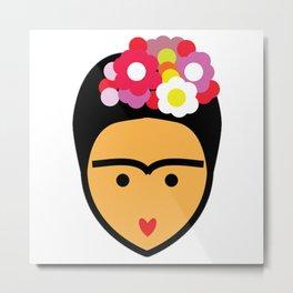 Minimal Frida Metal Print