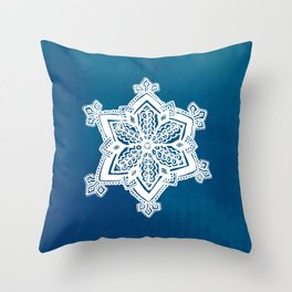 Snowflake II Throw Pillow