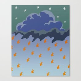 Stars and Fish Canvas Print