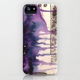 Purple Rain, original artwork by Stacey Brown iPhone Case