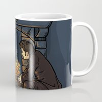fandom Mugs featuring The Witch in the Fireplace by Karen Hallion Illustrations