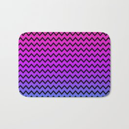 Rainbow Chevron Bath Mat