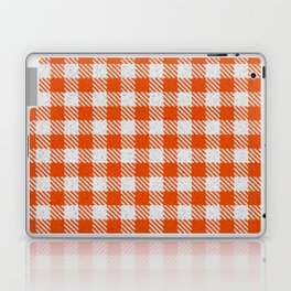 Orange Red Buffalo Plaid Laptop & iPad Skin