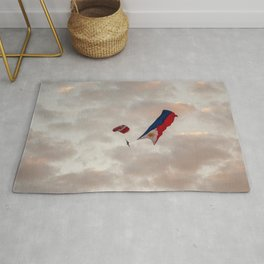 Skydiver with Philippine Flag Rug