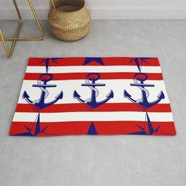 Nautical Red Rug